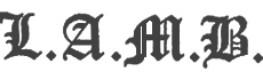 L.A.M.B brand logo