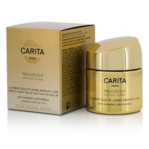 Carita Progressif Anti-Age Global Perfect Cream Trio for Eyes & Lips 15 ml.