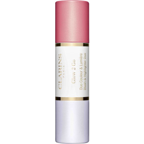 Clarins Glow 2 Go Blush & Highlighter 01 Glowy Pink