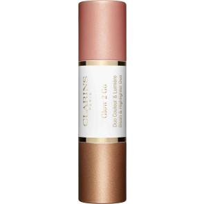 Clarins Glow 2 Go Blush & Highlighter 02 Golden Peach
