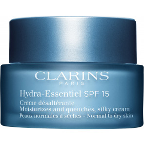 Clarins Hydra-Essentiel SPF15 Moisturizes and Quenches, Silky Cream Normal to Dry Skin 50ml