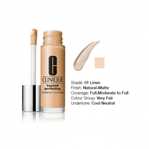 Clinique Beyond Perfecting™ Foundation + Concealer 01 Linen