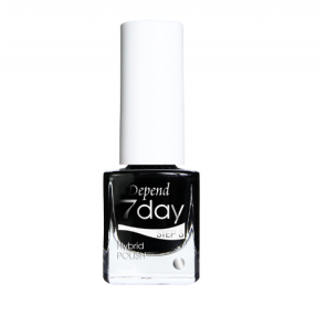 Depend 7 Day Hybrid Polish - 7013 Goth Black