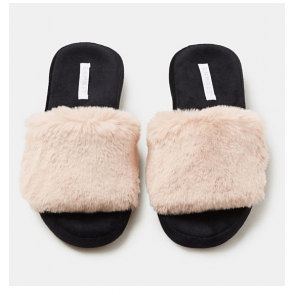 Esprit Slides med Kunstpels i Light Beige - Str. 36