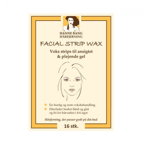 Hanne Bang Hårfjerning Facial Strip Wax 16stk.