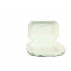 Sæbeetui i Hvid Plastic