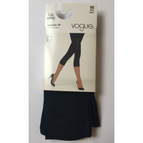 Vogue Opaque 3D Capri Leggings Marine L-XL