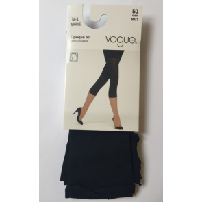 Vogue Opaque 3D Capri Leggings Marine M-L