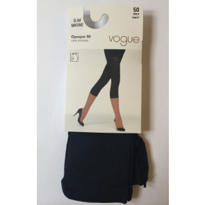 Vogue Opaque 3D Capri Leggings Marine S-M