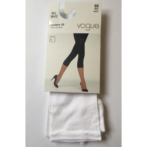 Vogue Opaque 3D Capri Leggings White M-L